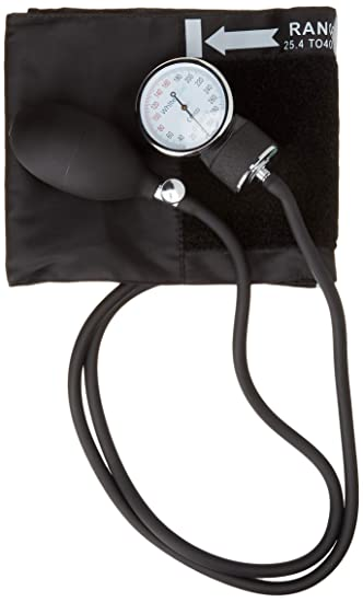 Manual Blood Pressure Cuff by Paramed – Professional Aneroid Sphygmomanometer with Carrying Case – Adult Sized