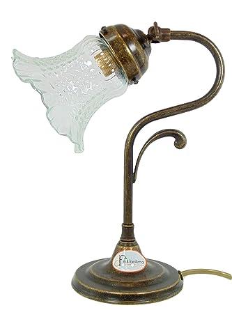Lámpara latón bruñido, mesa, escritorio, lámparas estilo Liberty ...