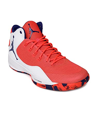 Nike Men Neon Pink & White Jordan Rising High 2 Basketball Shoes ...