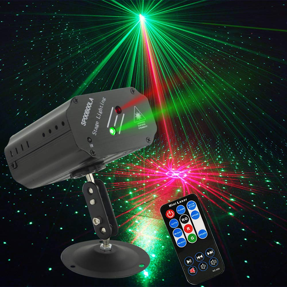 Party Lights DJ Lights, Disco Stage lights Strobe lights dj equipment for Stage Lightingwith Remote Control for Dancing Thanksgiving KTV Birthday ... by SPOOBOOLA