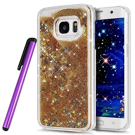 Immagini Natale Che Si Muovono.Newstars Cover Rigida Trasparente Per Samsung Galaxy S6 Edge Sm G9250 Con 1 Penna Stilo E Decorazioni Natalizie In 3d Che Si Muovono Nel Liquido