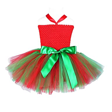 210cf82c5 girls christmas tutu dress costume handmade red with green 2t 3t 4t 5t 6t  7t 8t