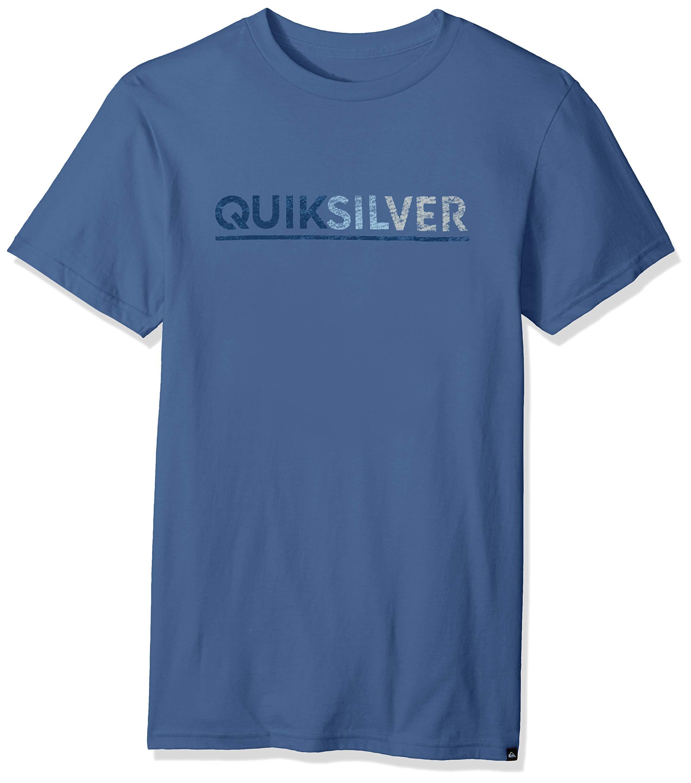 Quiksilver Men's Logo TEE Shirt, Opposites Attract Bijou Blue, L