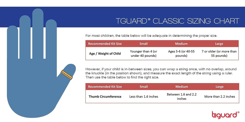 Kit de tratamiento para dejar de chuparse el dedo por Tguard ThumbGuard (grande)