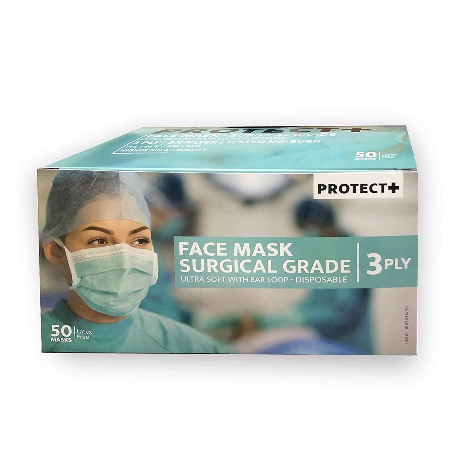 Buy Protect Plus 3 Ply Face Mask With Elastic Loop 50 Pcs Online