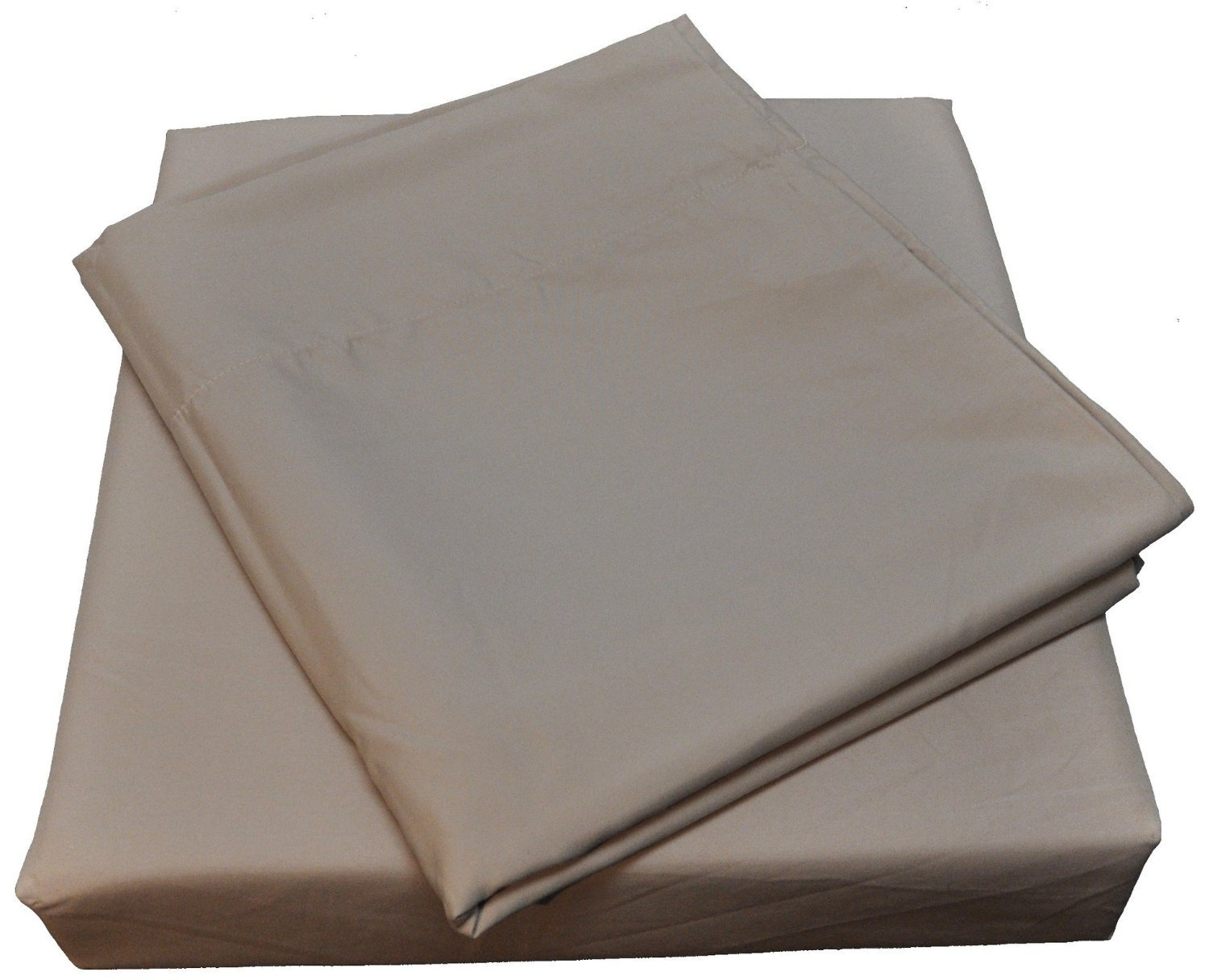 Nouvelle Legende Microfiber Spa Quality Bed Sheet Set, Full Size, Tan (4-Pieces)
