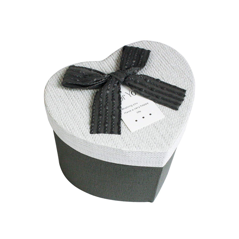 Caja Maroon Con Tapa Crema Emartbuy R/ígido Lujo En Forma de Corazon Presentaci/ón de Caja de Regalo Interior Marr/ón Chocolate y Cinta de Lazo Marr/ón
