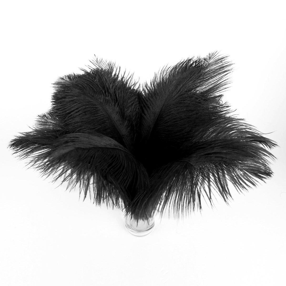 Vosarea 20pcs 30-35cm Plumas de Avestruz Artificiales decoraci/ón Plumas para el Vestido de la m/áscara del Banquete de Boda Amarillo
