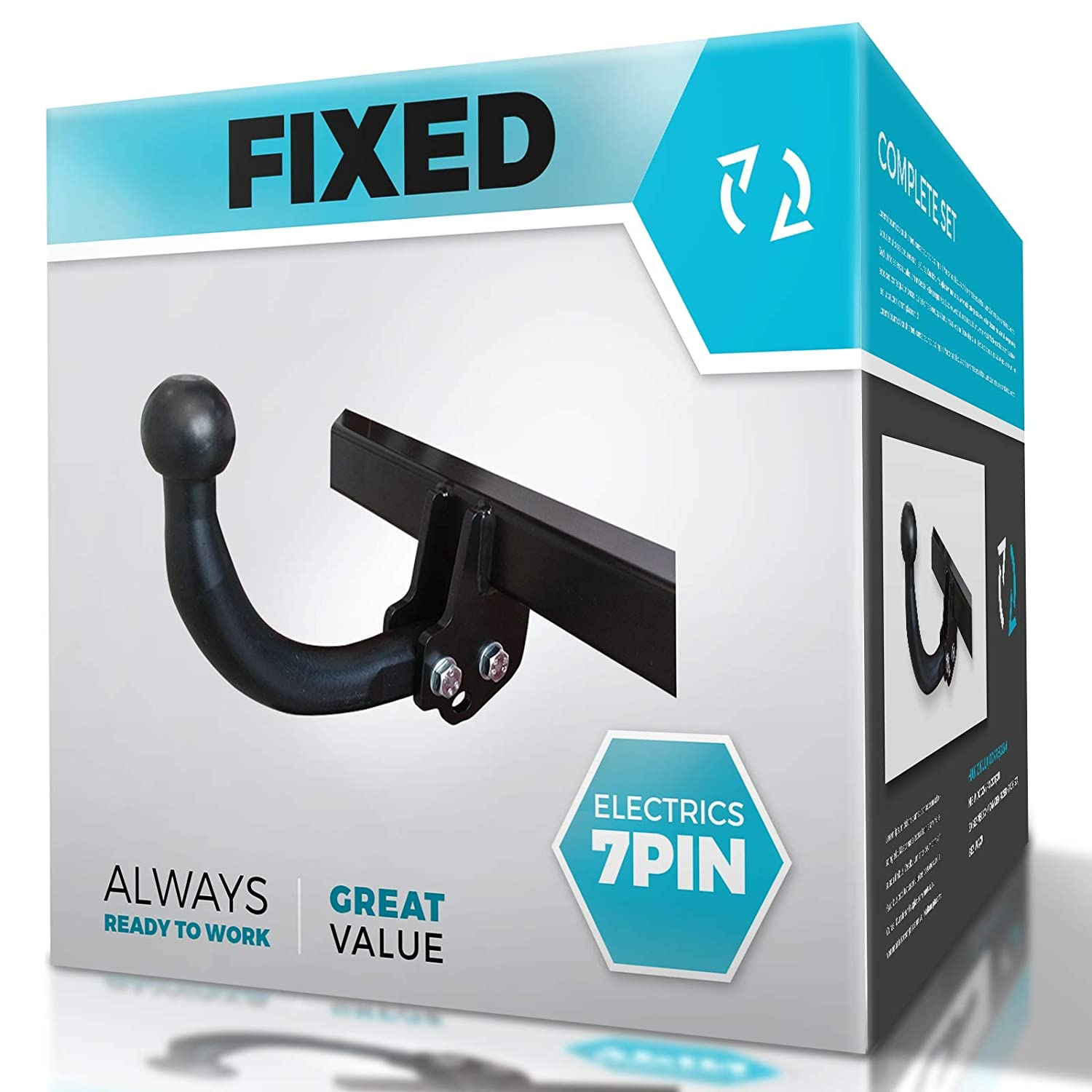 Fixed Swan Neck Towbar with Electric Kit 7Pin MCLP CHEVROLET ORLANDO 2011