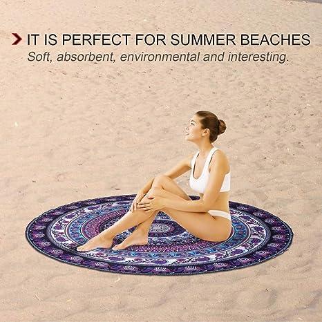 YOOMAT Forma Americana Redonda Europea Toalla de Playa ...
