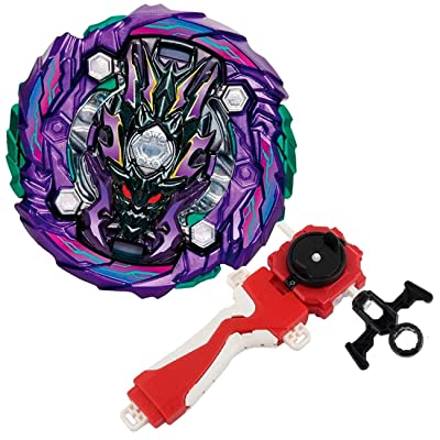 Bey Burst Evolution Turbo Battling Top GT Blade God Bey with Lr Launcher Grip Spryzen Starter Set B-143 Booster Dread Bahamut Ten Attack Gyro Bay Battle Kit Gaming Tops Novelty Spinning Toy Boy's Gift: Toys & Games
