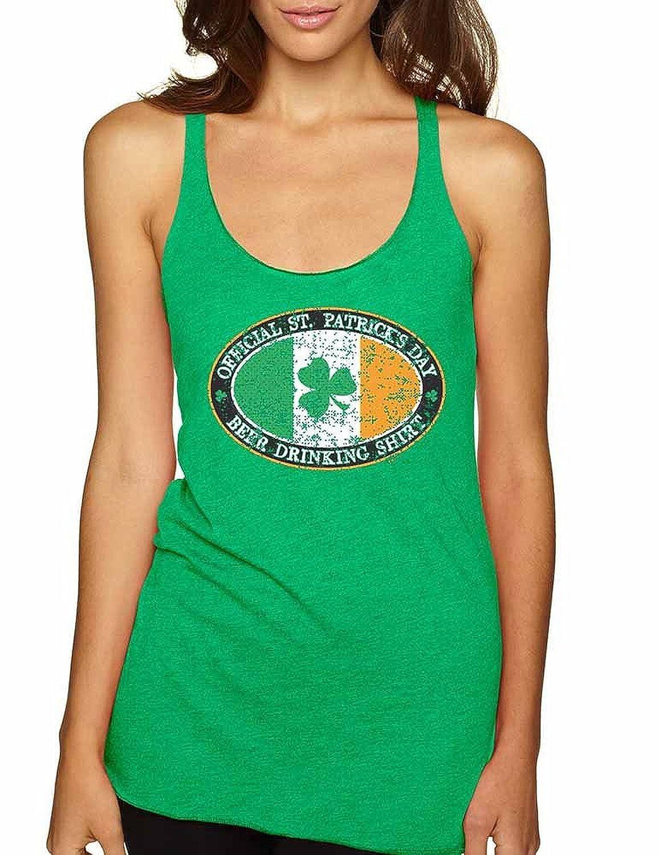 Allntrends Women's Tank Top Beer Drinking Shirt St Patrick's Day Shamrock