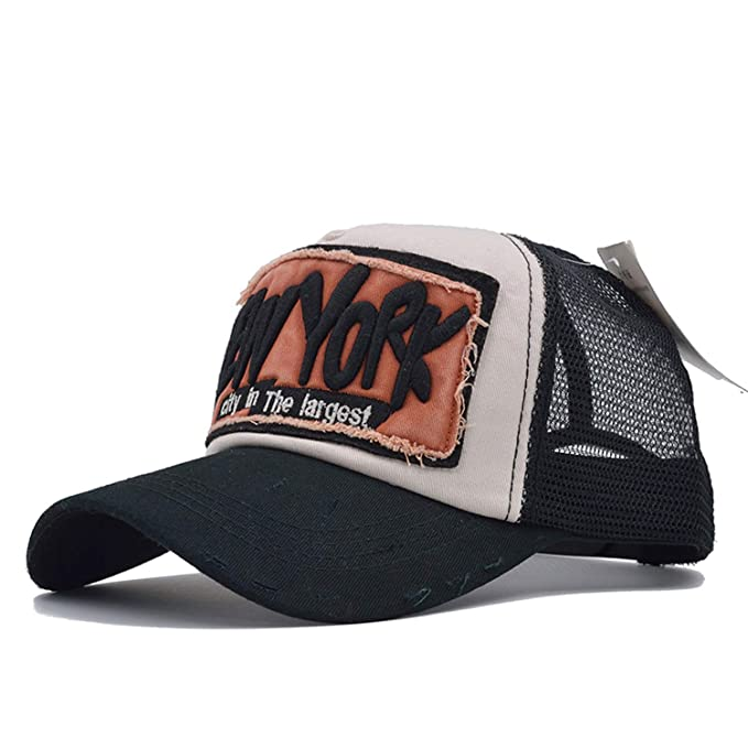 5 Panel NY Baseball Cap with Mesh Hat Trucker Cap New York Baseball Caps  Men Women e9cc6ace8abd