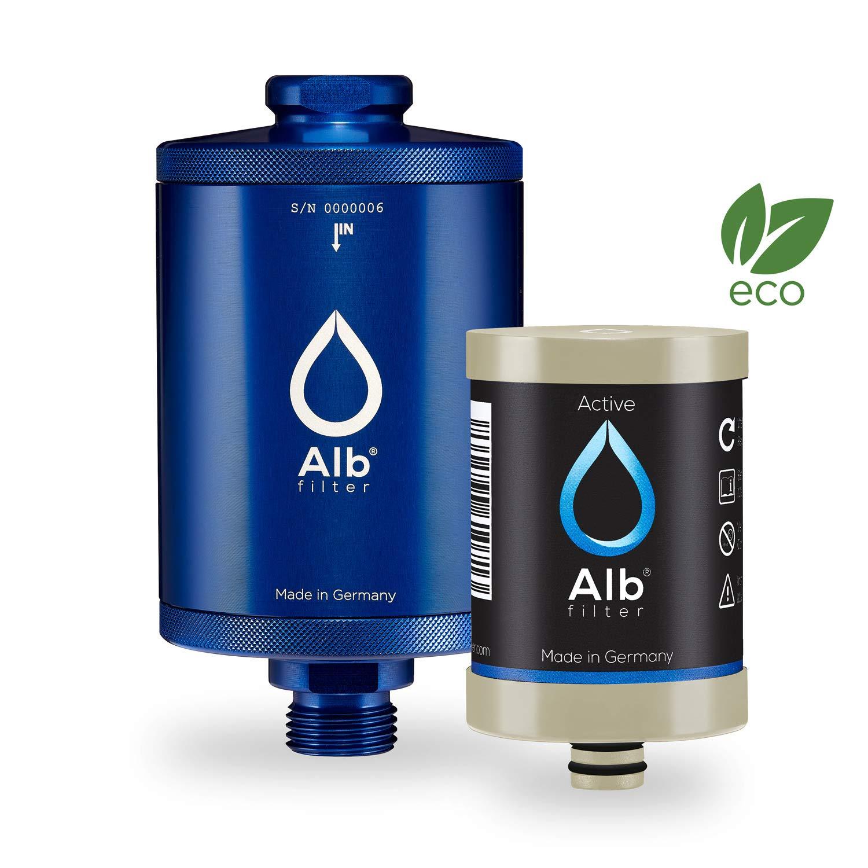 Alb Filter® Active eco biologisch abbaubarer Trinkwasser-Filter reduziert Schadstoffe, Schwermetalle, Mikro-Plastik. Made in Germany. Rot