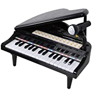 SGILE Multifunctional Musical Toy for Kids, Learning Tool Workbench Set with Shape Sorter Tools Lights Engineering Sounds for Boys Girls Toddlers (Black)