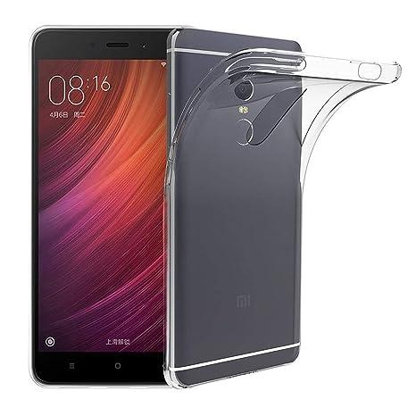 TBOC Funda de Gel TPU Transparente para Xiaomi Redmi Note 4 ...