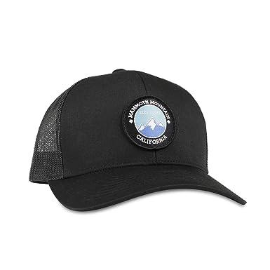 82341367e Mammoth Mountain Hat - Trucker Mesh Snapback Baseball Cap - Black