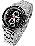 Disney ディズニー ミッキー 生誕80周年記念 回転 ベゼル 腕時計 ブラック スワロフスキー 黒 【並行輸入品】[時計]