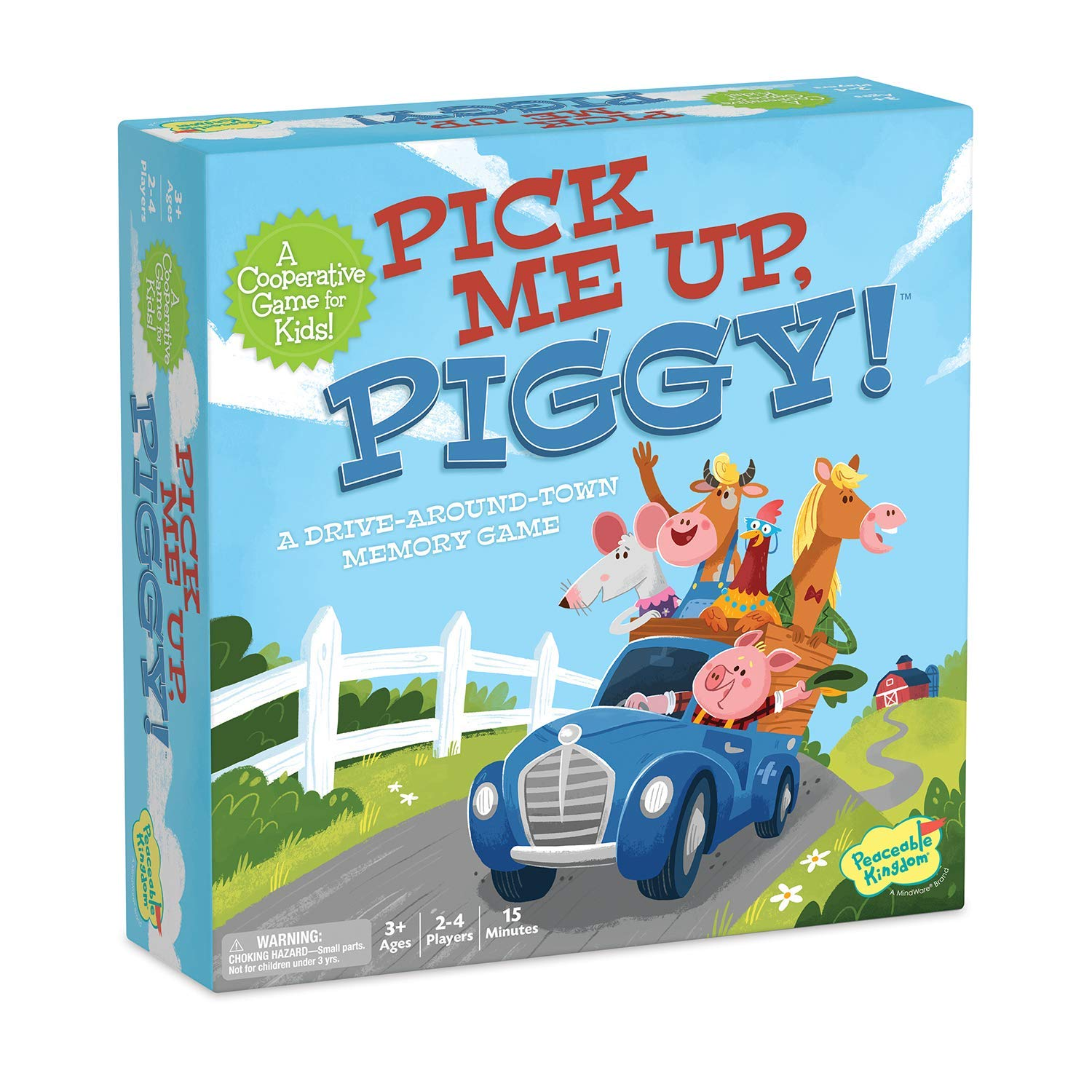 Peaceable Kingdom Pick Me Up, Piggy! - A Cooperative Memory Game for Kids