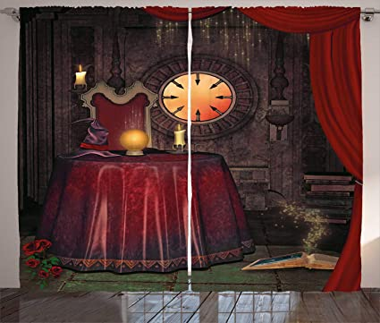 Amazon Com Ambesonne Gothic Decor Curtains Fortuneteller Room With