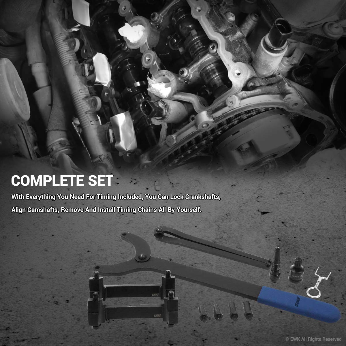 EWK Timing Tool Kit FSI Chain Engine for Audi A4 A6 A8 3.2 Liter V6 by EWK (Image #3)