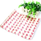 Chunshop 50Pcs Waxed Paper Waterproof Greaseproof Pastry Food Sandwich Wrap Wrapping Sheets (Flower)