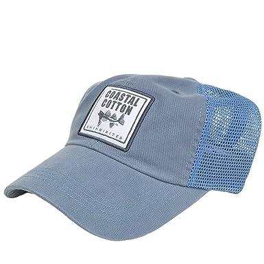 a719107a018d9c Coastal Cotton Trucker Hat- College Blue at Amazon Men's Clothing store: