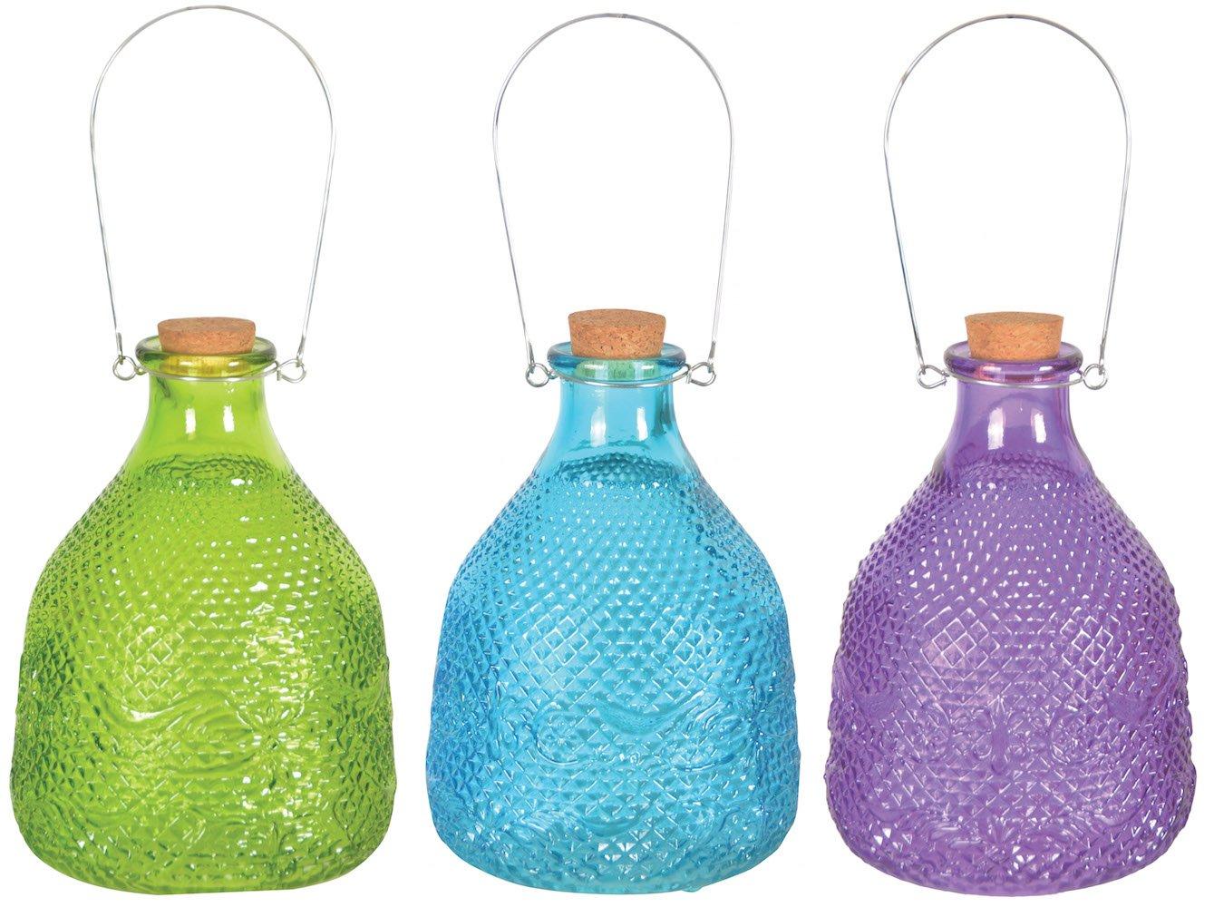 Esschert Design EG22 Wespenfalle Hobnail, Glas, 15 x H 21,5 cm (Farbe zufä llig, 1 Stü ck)