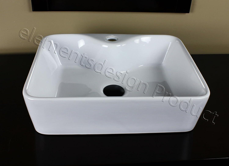 Bathroom White Ceramic Porcelain Vessel Vanity Sink 7291 *FREE Pop Up Drain*
