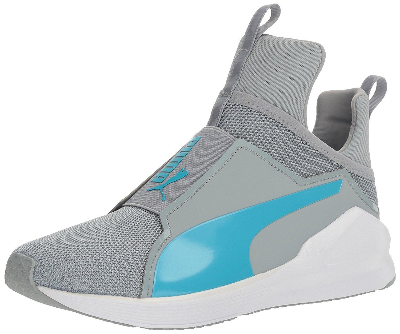 PUMA Women's Fierce Core Cross-Trainer Shoe, Quarry-Blue Atoll, 7 M US
