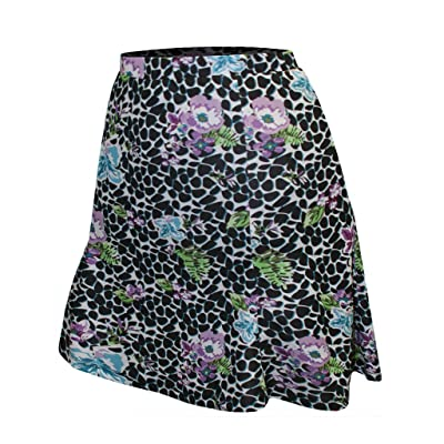 Monterey Club Ladies' Dry Swing Vivid Flower Leopard Pull-on Skort #2925