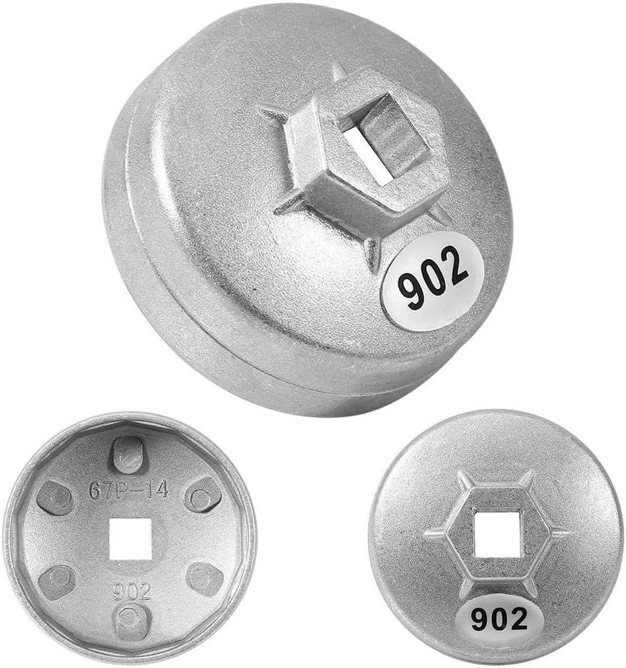 /Ölfilterschl/üssel Universal 67mm 14-Fl/öten-Aluminiumkappe /Ölfilterschl/üssel Patronenkappengeh/äuse-Entfernungsschl/üssel-Steckschl/üssel