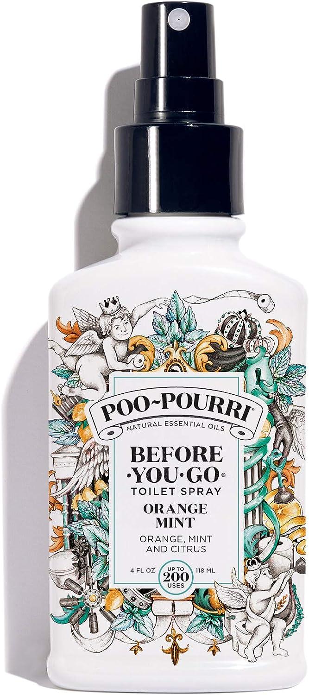 Poo-Pourri Before-You-go Toilet Spray, 4 Fl Oz, Orange Mint Scent, 4 Fl Oz