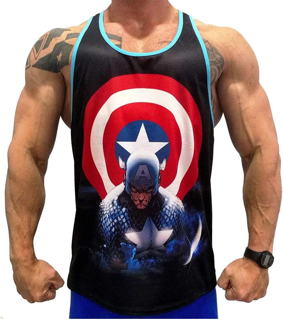 A. M. Sport Camisa Fitness de Tirantes para Hombre para ...