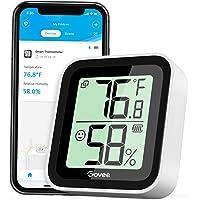 Govee Termómetro Higrómetro, Bluetooth Sensor Interior de Temperatura y Humedad con Alerta & 2s de Actualización, 2 Años…