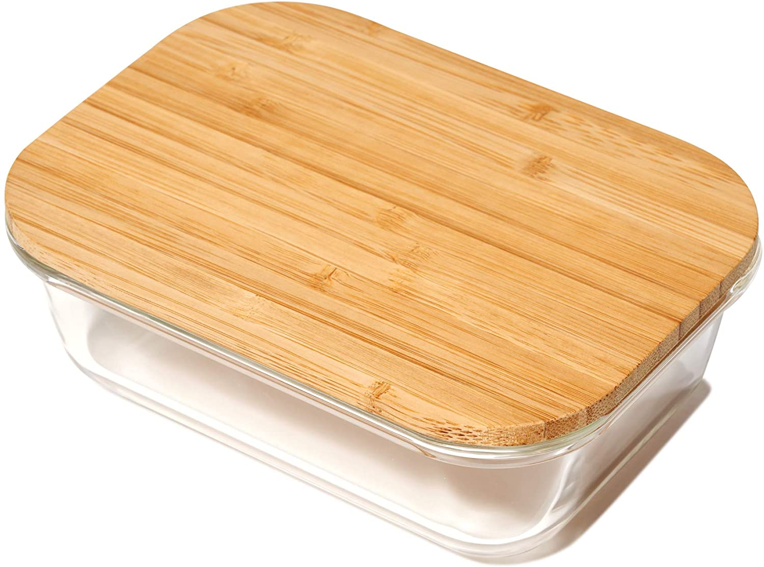 Greener Chef Glass Food Storage Containers with Bamboo Lids (370 mL)