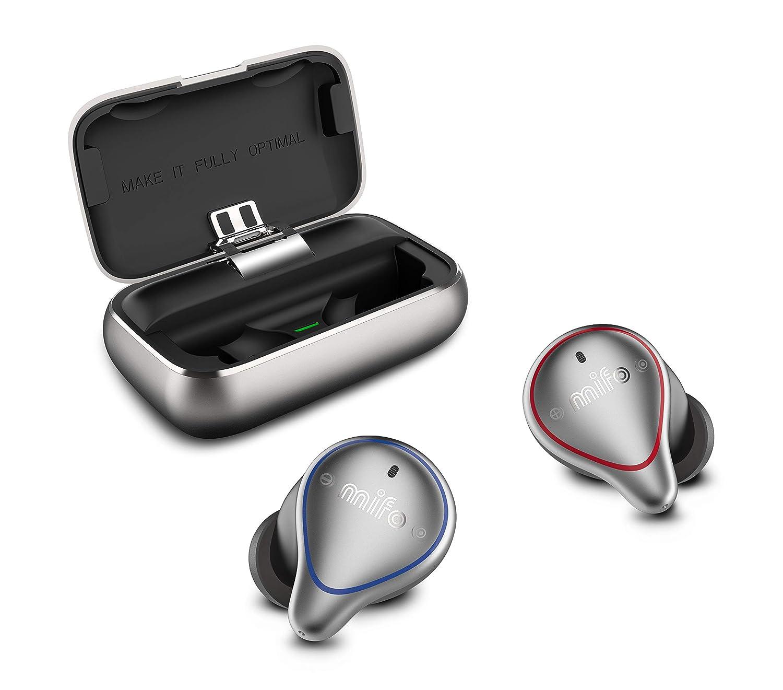 MIFO O5 True Wireless Earbuds Bluetooth 5.0 Sport Earbuds with 2600mAH Charging Case APTX Hi-Fi TWS Stereo Wireless in Ear Earphones Deep Bass Waterproof Wireless Headphones for Running, Built-in Mic