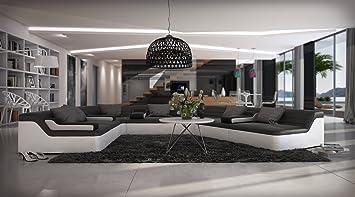 Sam Sofa Wohnlandschaft Fortuna Schwarz Weiß 262 X 390 Cm Designed