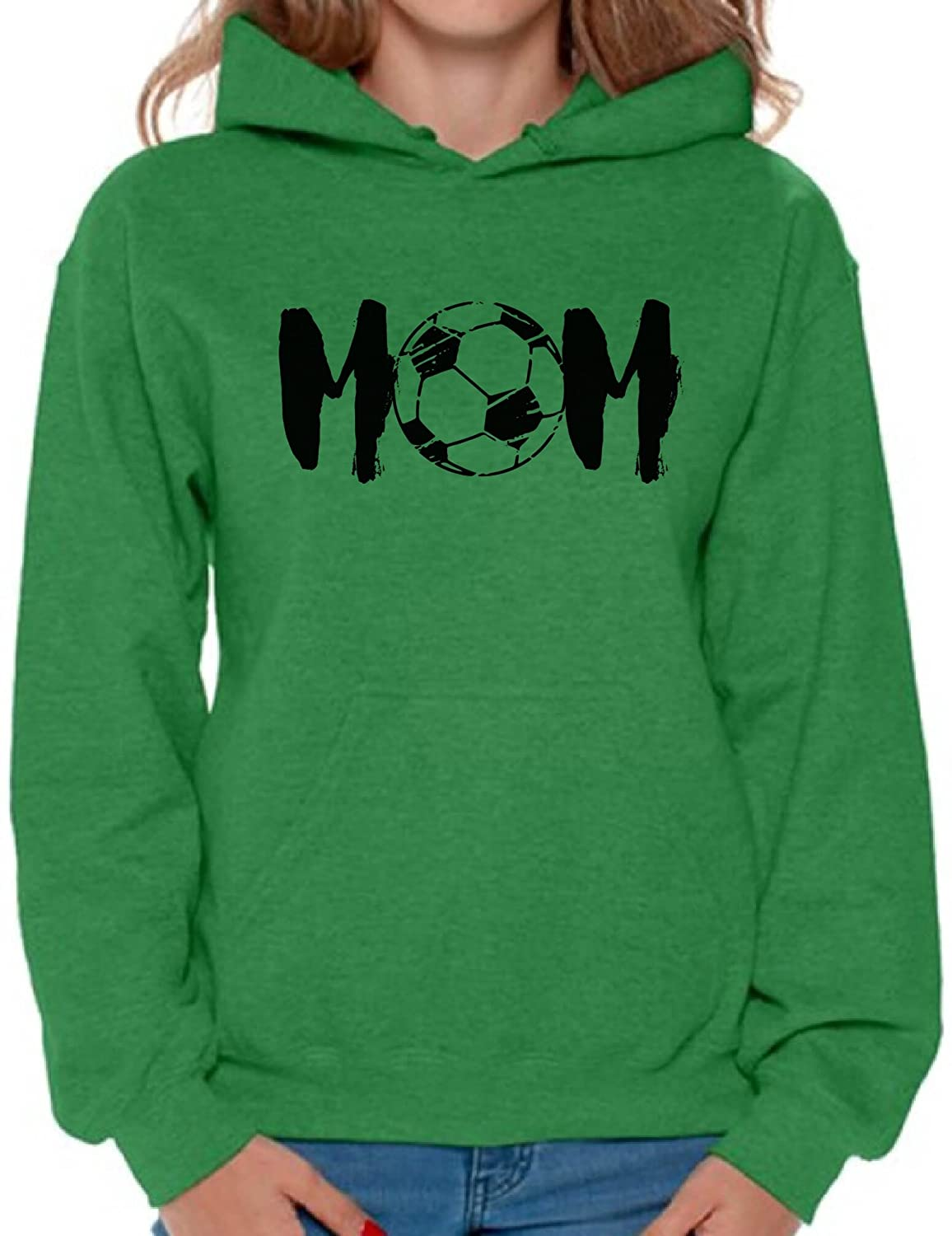 Awkward Styles Womens Soccer MOM Mothering Graphic Hoodie Tops Black Sport Mom