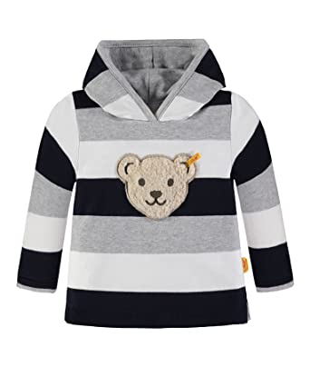 f87eba82c3 Steiff Collection Jungen Sweatshirt 1/1 Arm 6833643, Mehrfarbig (y/d Stripe