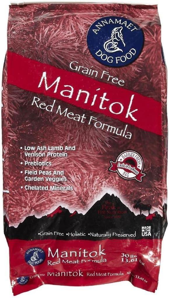 Annamaet Manitok Red Meat Formula Dry Dog Food - 30 lb