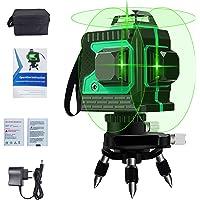 Kruislijnlaser Groen 3D 12 Laserlijn 3x360 Graden Horizontaal en Verticaal Kruis Supersterke Groene Laserstraallijn…