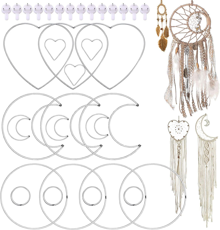 Cute 20cm Length x 3cm Pink Single Circle Indian Dream Catcher Key Ring