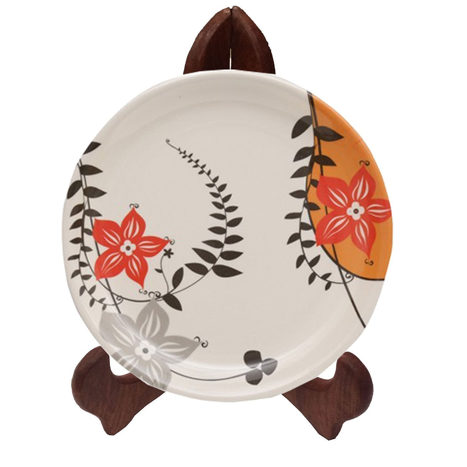 Handmade Decorative 10.50 Inch Wooden Plate or Photo Stand, Wooden Plate Holders, Plate Holders to Display Pictures or Other Items at Weddings, Home Decoration