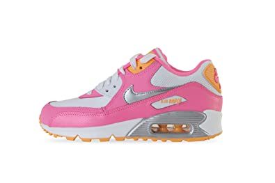 d262f157a03d Nike Air Max 90 (GS) 345017 120 Pink   Orange UK 3.5-5.9  Amazon.co ...