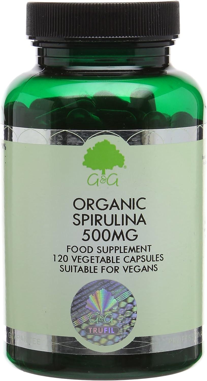 G&G Vitamins 500 mg Spirulina Capsules