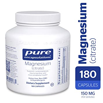 Pure Encapsulations - Magnesium (Citrate) - Hypoallergenic Supplement  Supports Nutrient