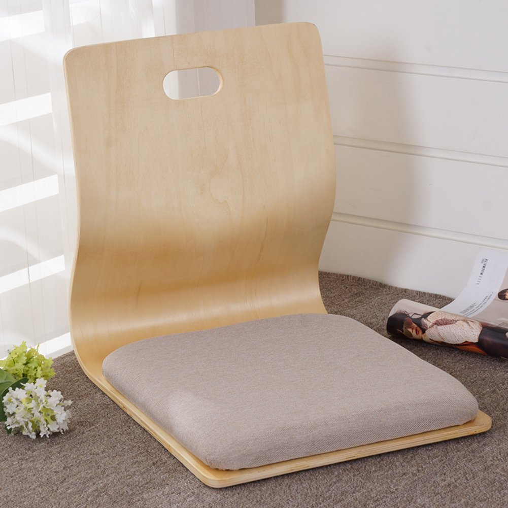 QIQ Tatami Room Chair,Bed Dormitory Back Chair Japanese Legless Chair Bay Window backrest Chair Lazy Chair Cushion-N by QIQ
