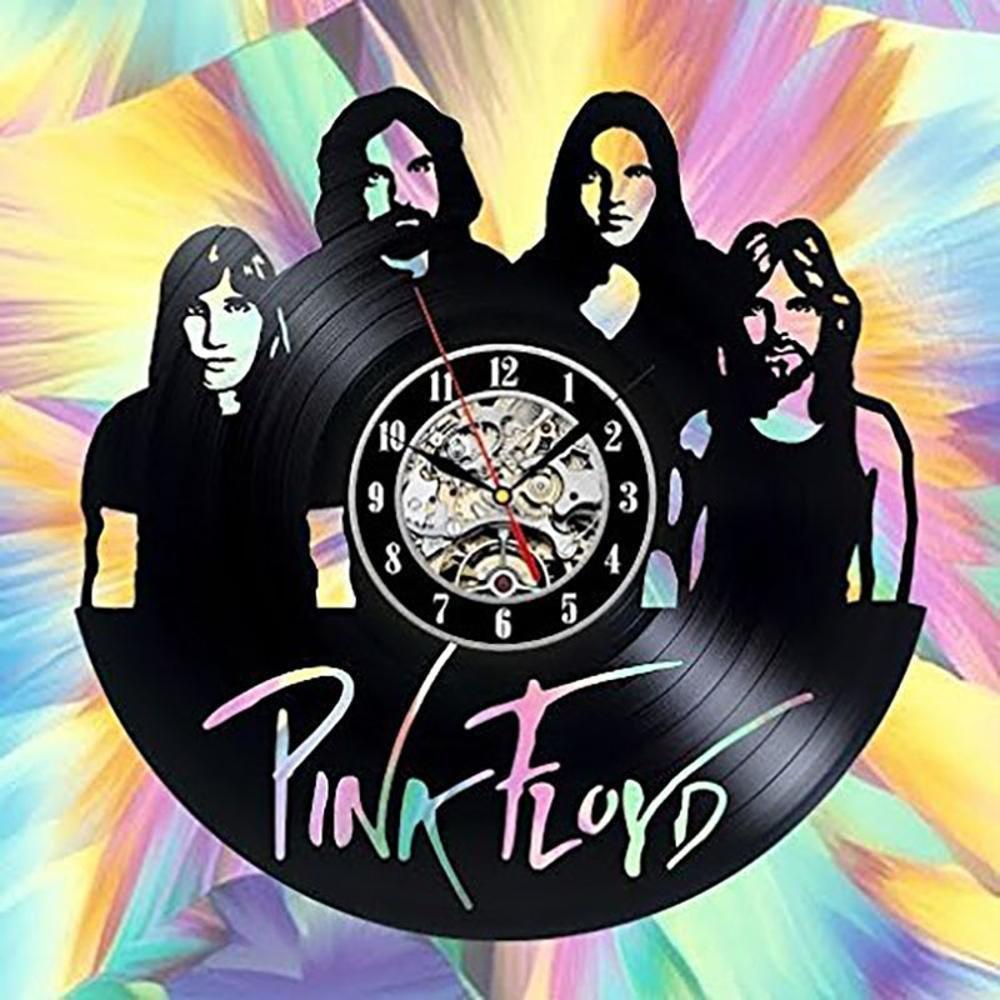 Aoligei Pink Floyd tondo vuoto nero vinile record parete orologio etilene moda personalizzata fatti a mano decorazione retrò