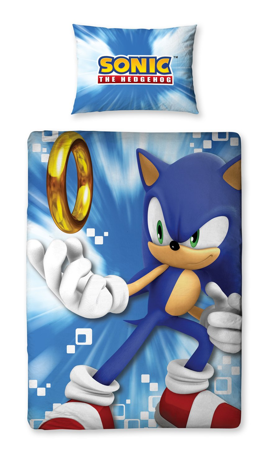 Amazon Com Sonic The Hedgehog Spin Panel Single Bed Duvet Quilt Cover Set Baby
